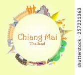 chiang mai round background...   Shutterstock .eps vector #257221363