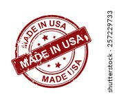 made in usa stamp | Shutterstock .eps vector #257229733