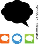 talking bubble icon | Shutterstock .eps vector #257230657