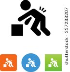back injury icon | Shutterstock .eps vector #257233207