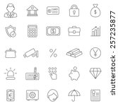 bank line icons set.vector | Shutterstock .eps vector #257235877
