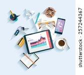 workplace concept. flat design. | Shutterstock .eps vector #257244367