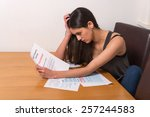 young student worried over un... | Shutterstock . vector #257244583