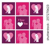 love design over pink vector... | Shutterstock .eps vector #257270623