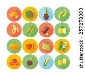 set of flat design icons for... | Shutterstock .eps vector #257278303
