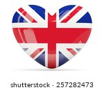 heart shaped icon with flag of... | Shutterstock . vector #257282473