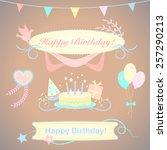 festive congratulation vector... | Shutterstock .eps vector #257290213