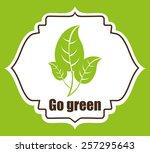 eco friendly design  vector... | Shutterstock .eps vector #257295643