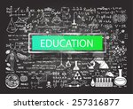 hand drawn education on... | Shutterstock .eps vector #257316877