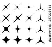 vector sparkles black symbols   Shutterstock .eps vector #257339563