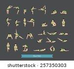 set of yoga poses   eps10... | Shutterstock .eps vector #257350303