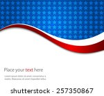 abstract image of the american... | Shutterstock .eps vector #257350867