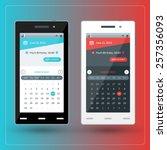 modern smartphone with calendar ...