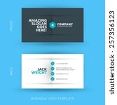 Vector modern creative and clean business card template. Flat design | Shutterstock vector #257356123