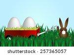 happy easter | Shutterstock .eps vector #257365057