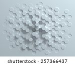 hexagonal abstract 3d background | Shutterstock . vector #257366437