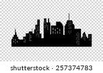 city silhouette  | Shutterstock .eps vector #257374783