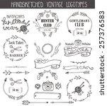 vintage  doodle hand drawing... | Shutterstock .eps vector #257376583