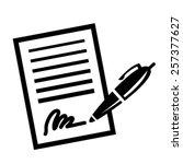 paper business contract pen... | Shutterstock .eps vector #257377627