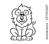 outlined lion vector...