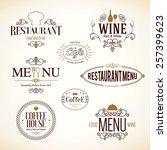 label and logo set for... | Shutterstock .eps vector #257399623