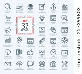 Outline web icons set - Search Engine Optimization  | Shutterstock vector #257399803