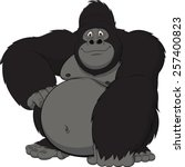 funny monkey | Shutterstock .eps vector #257400823