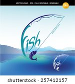 fishing label  badge and design ... | Shutterstock .eps vector #257412157