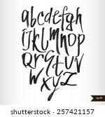 expressive calligraphic script...   Shutterstock .eps vector #257421157