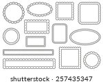 collection of scalloped frames | Shutterstock .eps vector #257435347