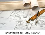architectural blueprints of new ... | Shutterstock . vector #25743640