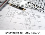 modern architect's office with... | Shutterstock . vector #25743670