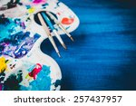 creative background with art... | Shutterstock . vector #257437957