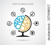 Creative Brain Abstract Vector...