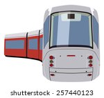 train wagons on a white... | Shutterstock .eps vector #257440123