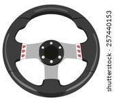 black car wheel on a white... | Shutterstock .eps vector #257440153