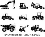 set of heavy construction... | Shutterstock .eps vector #257453437