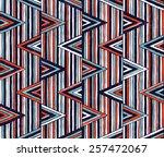 tribal vector pattern. seamless ... | Shutterstock .eps vector #257472067