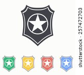 shield icon | Shutterstock .eps vector #257472703