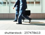business man walking | Shutterstock . vector #257478613