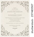 invitation card with grunge... | Shutterstock .eps vector #257485507