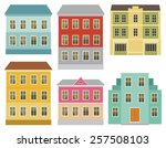 set of the european city... | Shutterstock .eps vector #257508103