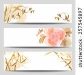 watercolor vector banners in...   Shutterstock .eps vector #257545897