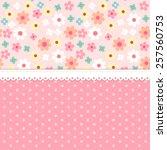 Cute Retro Pattern With Daisy...