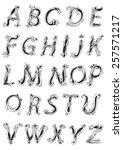 vintage floral alphabet in... | Shutterstock .eps vector #257571217