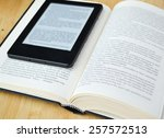 book reader and an old... | Shutterstock . vector #257572513