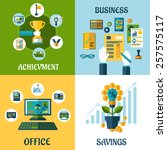 business  office  achievement ... | Shutterstock .eps vector #257575117