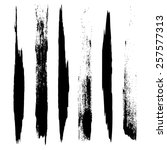 vector set of grunge brush... | Shutterstock .eps vector #257577313