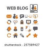 web blog  community  internet... | Shutterstock .eps vector #257589427