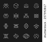 hipster style icons  labels for ... | Shutterstock .eps vector #257592817